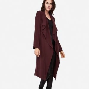 R29 PICK SOFT BELTED TRENCH COAT CABERNET PURPLE